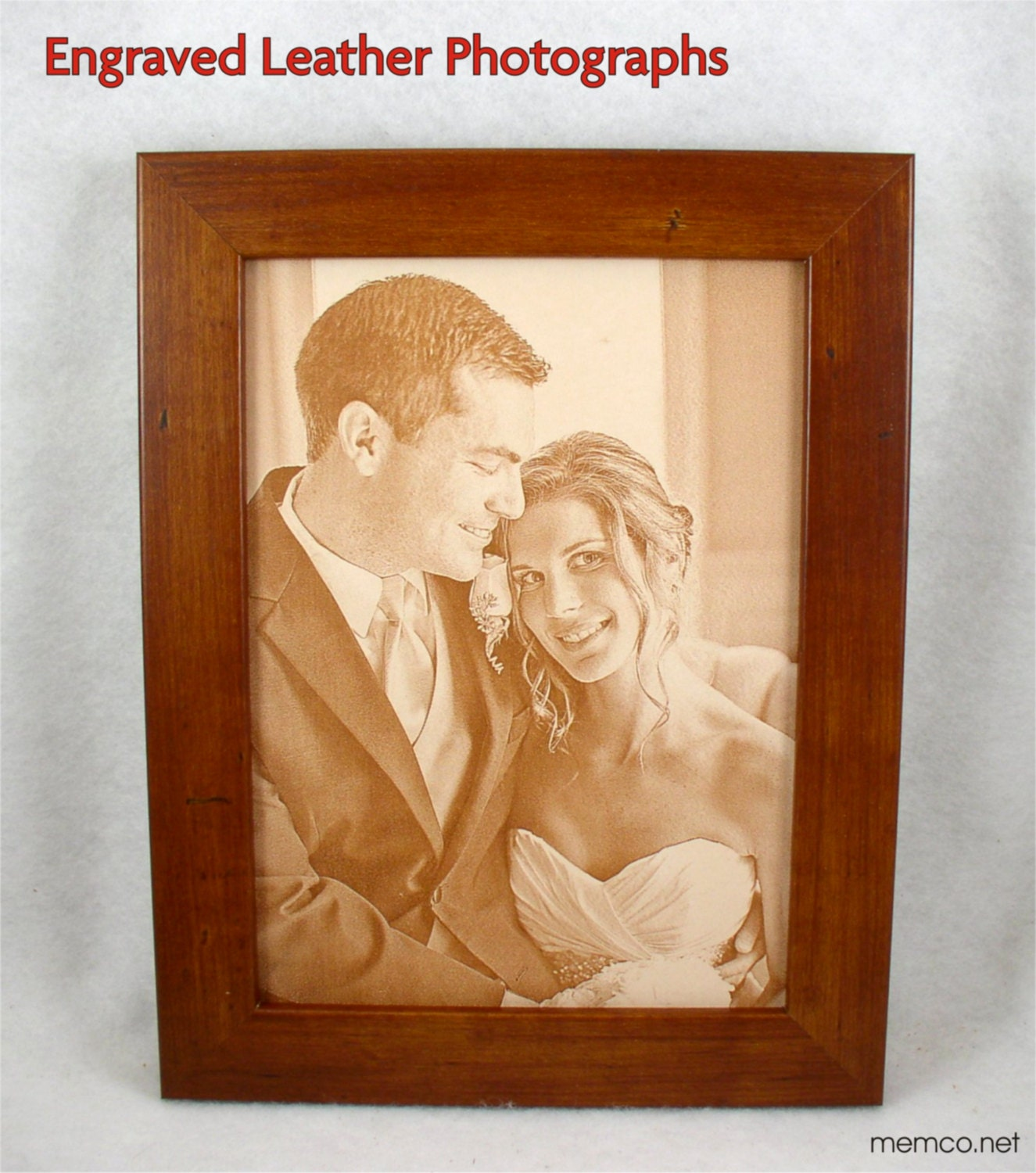 3rd Wedding Anniversary Leather Gifts: 3rd Wedding Anniversary Gift Leather Photograph Engraved In
