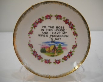 I'm The Boss Porcelain Plate Wall Hanging By Centennial Novelty Los Angeles