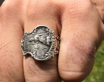 Sterling Silver Spoon Ring Size 12