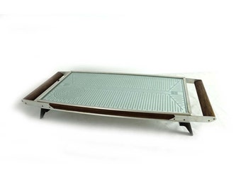 Vintage 1970s retro teak and glass Ranleigh Hot tray food warmer, retro serving, Salton Hottray food warmer.