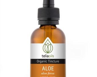 Organic Aloe Vera Tincture, Liquid Extract, (Aloe ferox) 1 fl. Oz / 30 Ml - Top Quality, maximum Strength