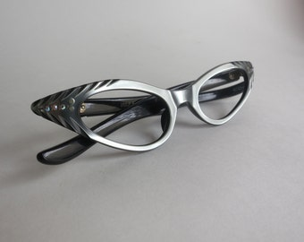 Eyeglass Frames Vintage French Sunglass Frames New Old Stock, Rhinestones