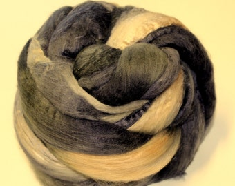 Silk & Merino Lap or Roving (felting and spinning fibre)