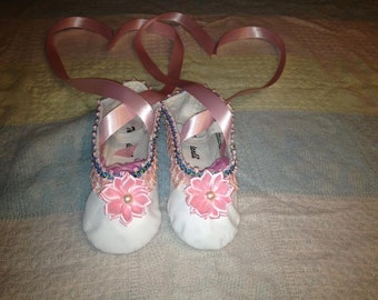 Kids Hand-Decorated Ballet Shoes