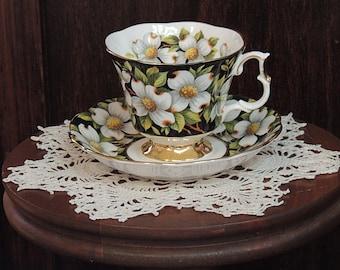Vintage Royal Albert Bone China Provincial Flowers Dogwood Cup & Saucer