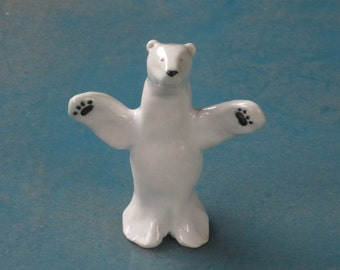 Polar Bear Hug made from porcelain