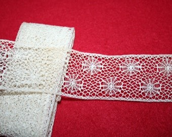 Antique Insertion Lace- Per Yard