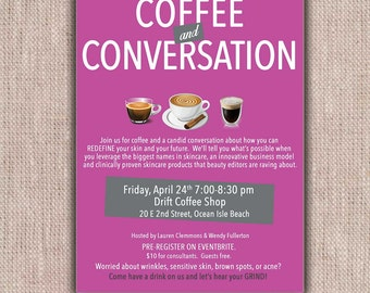 Rodan + Fields Invitations Coffe/Cocktails