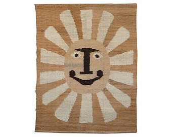 Sunburst Wall Tapestry, after Alexander Girard, Mid-Century Modern Textile