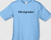 firstgrader with hashtag symbol in front