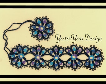 Tatted Lace Bookmark by Jan - Caribbean Magic - Mary Konior Design