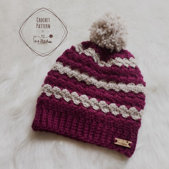 Twin Rivers Textured Beanie Pattern Adult Beanie Hat Pattern