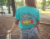 4:20 Cat T-shirt (Teal)