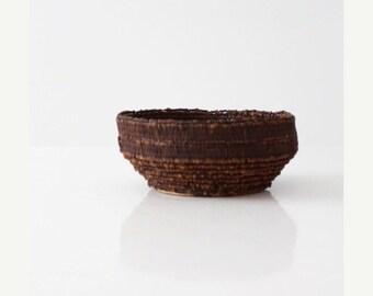 SALE vintage clove basket, decorative bowl