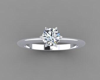 star solitaire 0.5 carat diamond ring