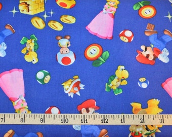 Springs Creative. Super Mario 2 Character Toss - Nintendo - By the yard - Choose your cut of fabric