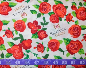 Springs Creative Kentucky Derby Winner's Circle Roses - Cotton fabric BTY - Choose your cut
