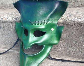 FRANK leather wearable art mask