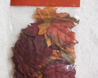 Seasonal Fall Bowl filler Cloth Leaves Supplies