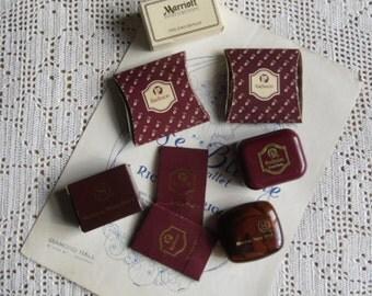 Vintage Souvenirs - Hotel Memorabilia, Sheraton, Marriott and Radisson Hotels, Soaps, Shower Cap, Lint Mitt, Shoe Cleaner, Mending Kits
