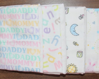 Burp Cloths ~ Set of 4 #2N-813
