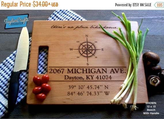 10% OFF THRU FEB Personalized Cutting Board Engraved Custom - Wood Cutting Board - Wedding Gift, Housewarming Gift, Anniversary Gift - Perso