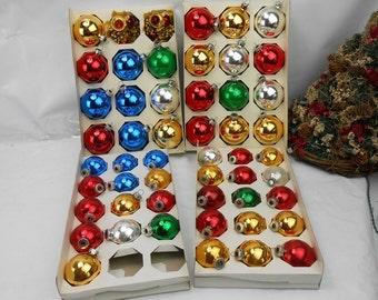 Vintage Christmas ornaments vintage mercury glass balls 60s ornament collection 50 mercury glass Christmas tree ornaments glass balls