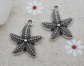 summer charm 50 pcs cute seastar charms-T1069
