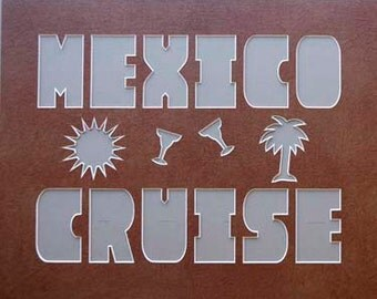 MEXICO CRUISE 16x20 Name Frame Photo Mat