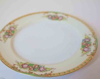 Vintage Hand Painted Plate, Diamond China from Japan