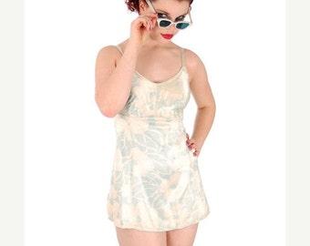 On Sale Now Vintage Bombshell Swimsuit Bathing Suit Hawaiian Printed Rayon Lastex 34 1930s