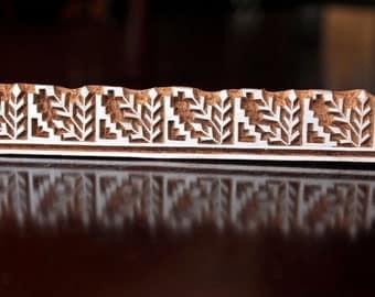 Pottery stamp, Woodblock stamp, Textile Stamp, Blockprint stamp- Geometric Floral Border