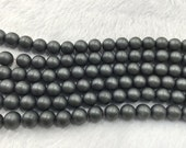 2mm / 3mm / 4mm / 6mm / 8mm / 10mm Matte Hematite Beads Round Semiprecious Gemstone 15''L Jewelry Supply