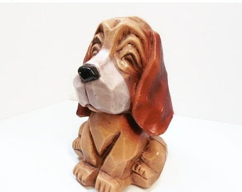 Autumn Clearance Sale Cute Blow Mold Plastic Hound Dog Bank