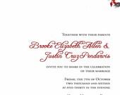 RUSH Custom listing for brookeallen0623 - Romantic Red Roses Wedding Invitations