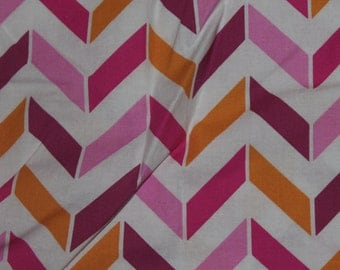 Pink, Orange, And Purple Chevron Crib/Toddler Bed Fitted Sheet