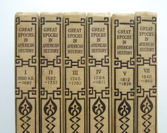 Great Epochs in American History. little antique book collection.