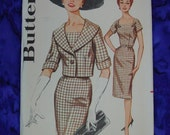 Vintage Pattern c.1960's Butterick No.2145 Sheath Dress & Jacket, Size 14, Uncut