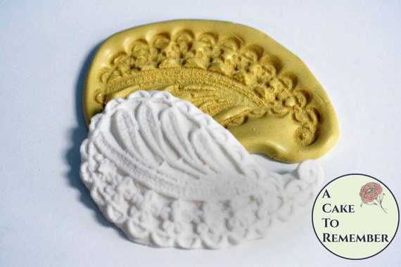 Basket Weaving Supplies Richmond Va : Leaf and flowers paisley silicone mold for cake decorating