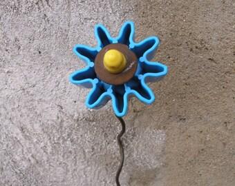 Junk Flower, Metal Plastic Flower, Whimsical Flower, Flower Art, Home Decor, Childrens Decor, Playful, Gardener Gift, colorful vase filler