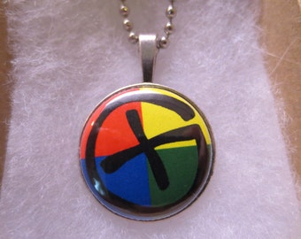 Geocaching Treasure Hunting  1 inch Button Pendant with Chain
