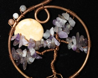 Tree of Life Moon Rising Necklace & Earring Set