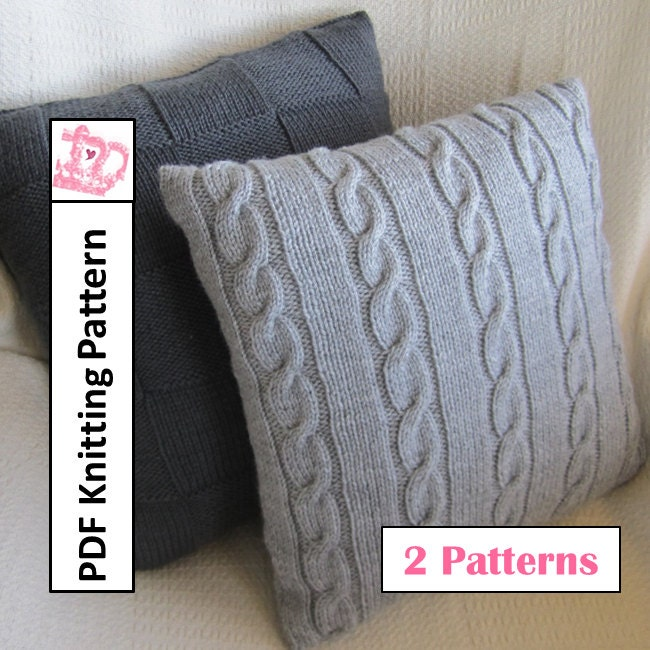Knit Pillow Cover Pattern : Knit pillow cover patterns Classic Cable and by LadyshipDesigns