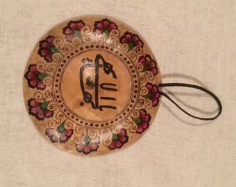 Greatest Name Gourd Wall Hanging with Leather Strap