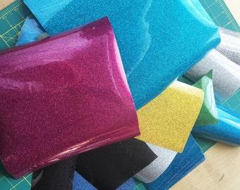 Glitter heat vinyl scrap sale