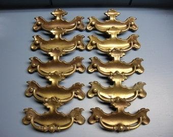 Brass Furniture Handles set of 10 Drawer Pulls Hardware