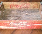 Vintage 1970s Wood Coca Cola Crate Chattanooga TN
