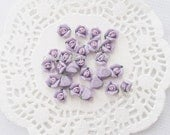 10pcs ((LAST)) Small Ceramic Tea Time Earl Grey Lavender Rose Decoden Cabochon (8mm) FL10021