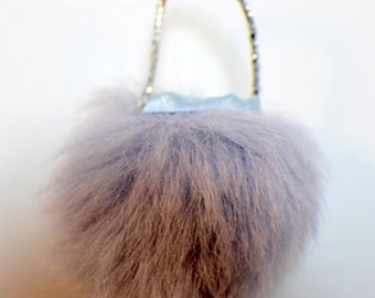 American Girl Mini's Illuma Room Petite BoutiquePurple Fur Purse Handbag