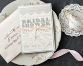 Bridal Shower Invitations, Customizable, Printed with Baker Twine & Tag, Full Assembly Included - 10 Colors To Choose From